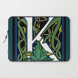 Celt Frog Letter K Laptop Sleeve