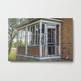 Abandoned House, Fort Clark, ND 4 Metal Print