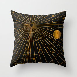 Chart the Stars Throw Pillow