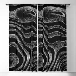 Deep Dark Fibers Blackout Curtain