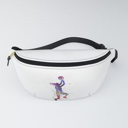 Young woman basketball player 05 in watercolor Fanny Pack