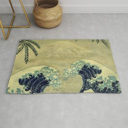 The Great Blue Embrace at Yama Rug