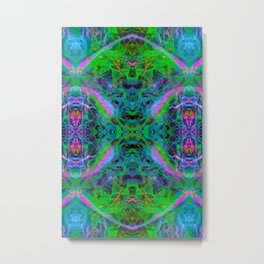 Techno Electric IV (Ultraviolet) Metal Print