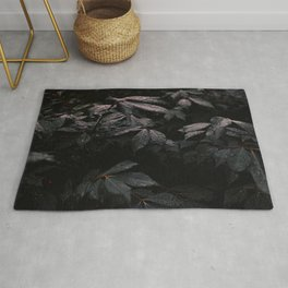 Black Leaves Rug