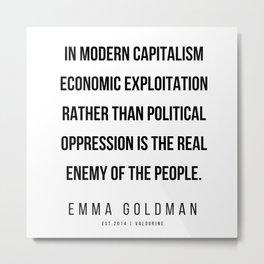 29      Emma Goldman Quotes   200602 Metal Print