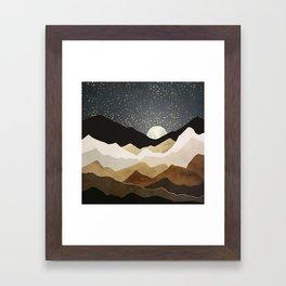 Golden Stars Framed Art Print