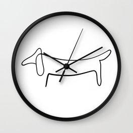 Picasso Dog Print Modern Sketch Picasso Wall Clock