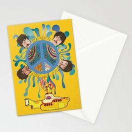 yellow submarine Stationery Cards