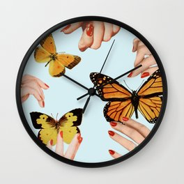 Social Butterflies Wall Clock