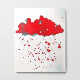 Red Red Clouds Metal Print