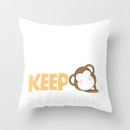 Lazy Ape Day Dreamers Monkey Keep Sleeping Throw Pillow