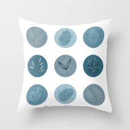 Ikigai patterns Throw Pillow