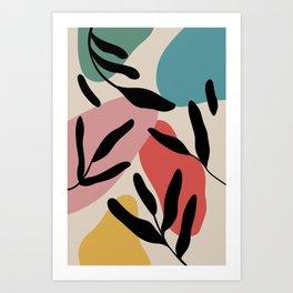 colorful palm pattern Art Print
