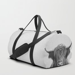 Highland Cow - Black & White Duffle Bag