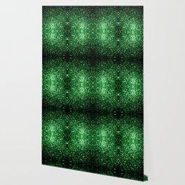 Glamour Dark Green glitter sparkles Wallpaper