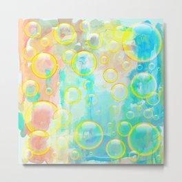 Watercolor Bubbles Metal Print