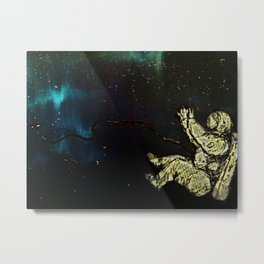 Astronaut afloat(Spaced) Metal Print