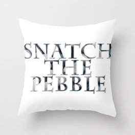 Snatch the Pebble Throw Pillow