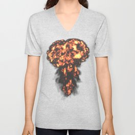 A nuclear explosion Unisex V-Neck