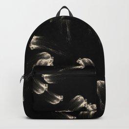 Abstract Art Painting Brush Strokes Black Beige V5 Backpack