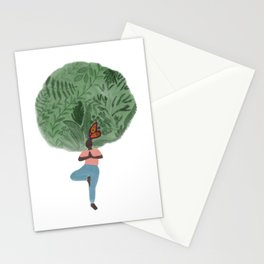Tree & Nature Lover Yoga Illustration Stationery Cards