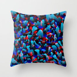 Smoky bright on colored spots and splashes of light blue colors. Throw Pillow