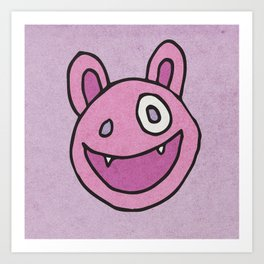 Slightly Amused Monsters, VII Pink Art Print