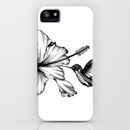 Hummingbird & Hibiscus II iPhone Case