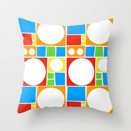 Colourful Abstract Shapes Pattern Throw Pillow