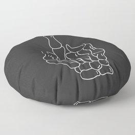 Fuck You | Skeleton Middle Finger Floor Pillow