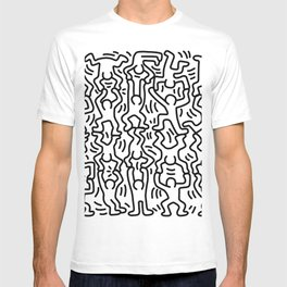 Homage to Keith Haring Acrobats T-shirt