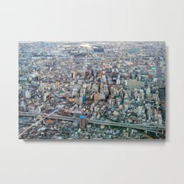The Osaka Concrete Jungle Metal Print