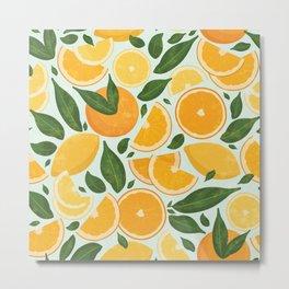 Summery Citrus Mood / Mint Splash Metal Print