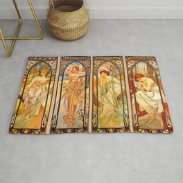 "Alphonse Mucha ""Times of day"" Rug"