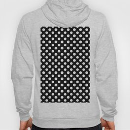 Black and White Polka Dot Pattern Hoody