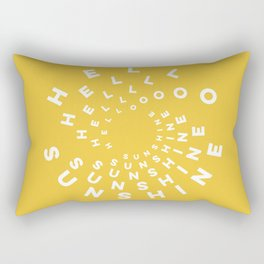 Hello Sunshine #minimal #typography #summervibes Rectangular Pillow