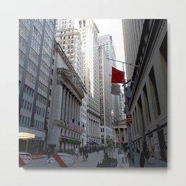 New York city street view Metal Print