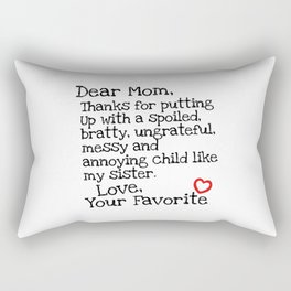 Dear Mom (Sister) Rectangular Pillow