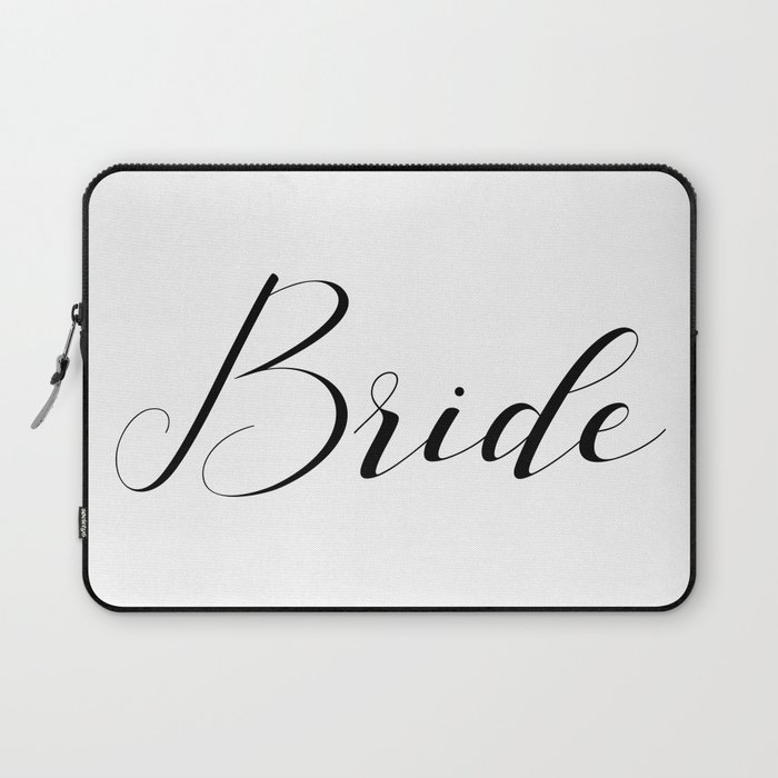 Bride - Black on White Laptop Sleeve