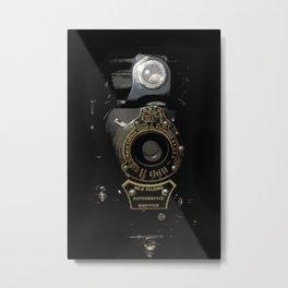 VINTAGE AUTOGRAPHIC BROWNIE FOLDING CAMERA Metal Print