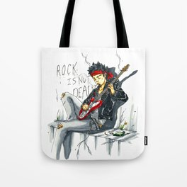 Rock is not dead Tote Bag