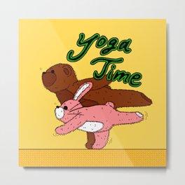 Yoga Time Metal Print