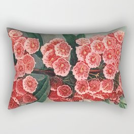 Pink Floral The Narrow-leaved Kalmia : Temple of Flora Rectangular Pillow