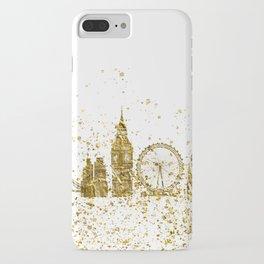 London skyline in gold iPhone Case