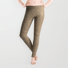 Burlap Texture Leggings