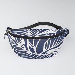 Navy Blue Floral Minimal Fanny Pack