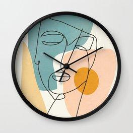 Abstract Face 25 Wall Clock