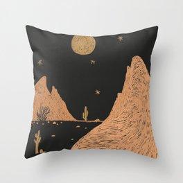 A Night in the Desert Throw Pillow