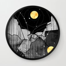 Astronomy mountains Wall Clock