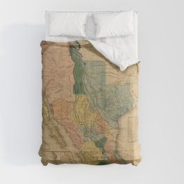 Map of Mexico by Henry Tanner (1846) Comforters